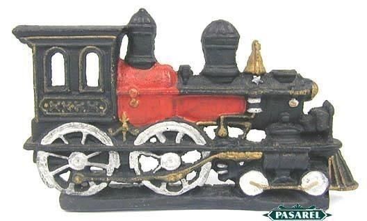 Nycrr Cast Iron Train: Superb Cast Iron Train Locomotive Doorstopper
