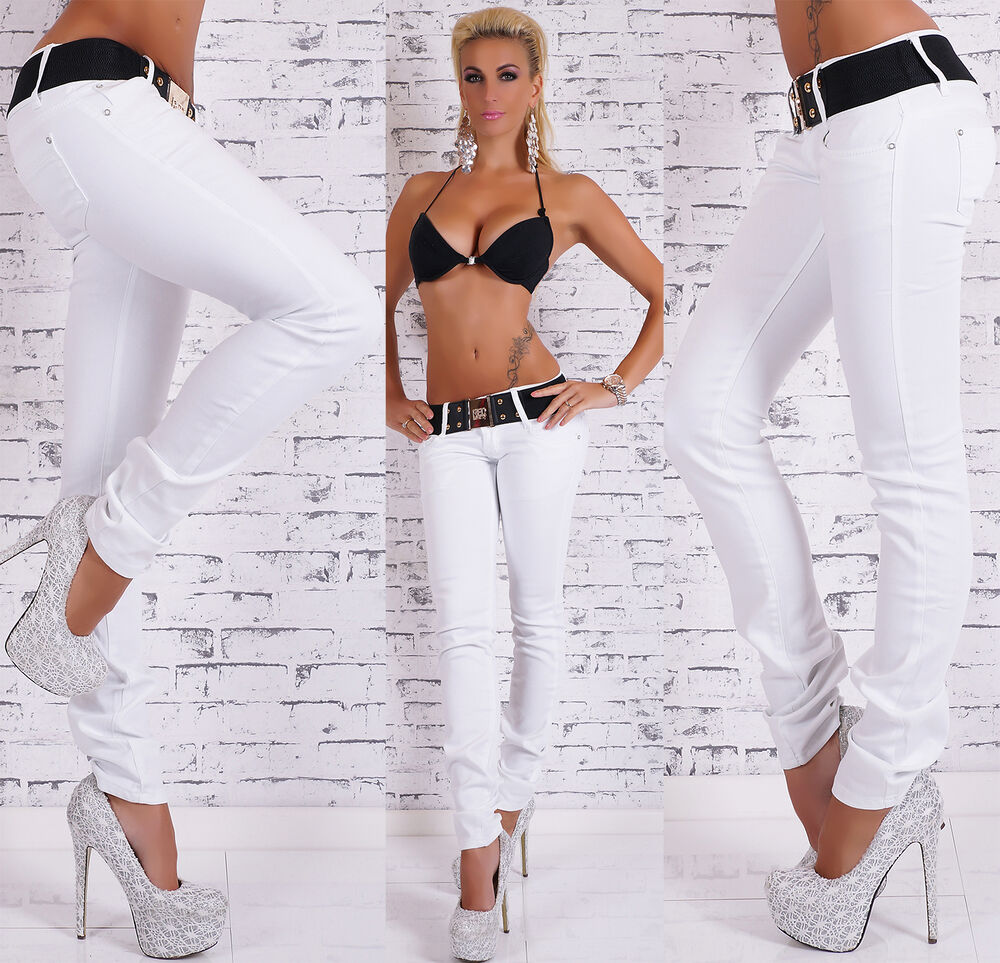 hot girls in white pants