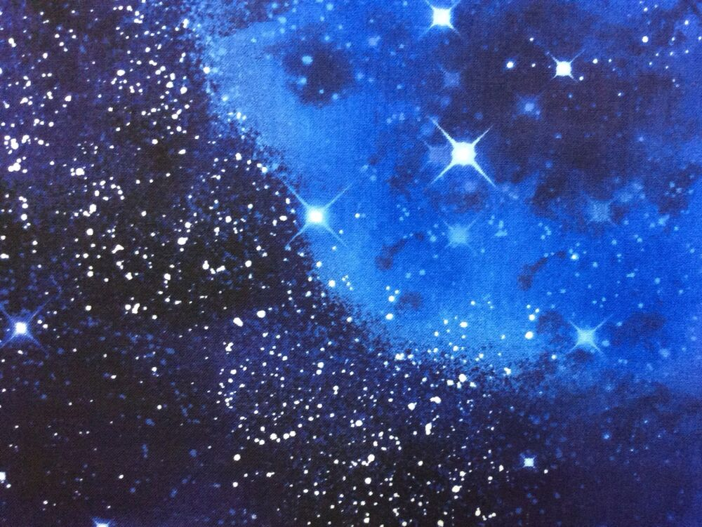 Tt56 space galaxy stars twilight starry night sky cotton for Space themed fabric