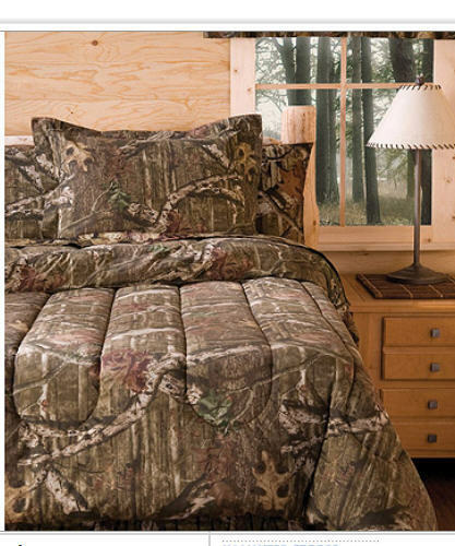 Mossy Oak Camouflage Boys Hunting Cabin King Comforter Shams 3 Piece B