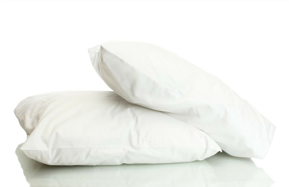 Luxury goose feather down pillow pair hotel soft white for Best soft down pillow