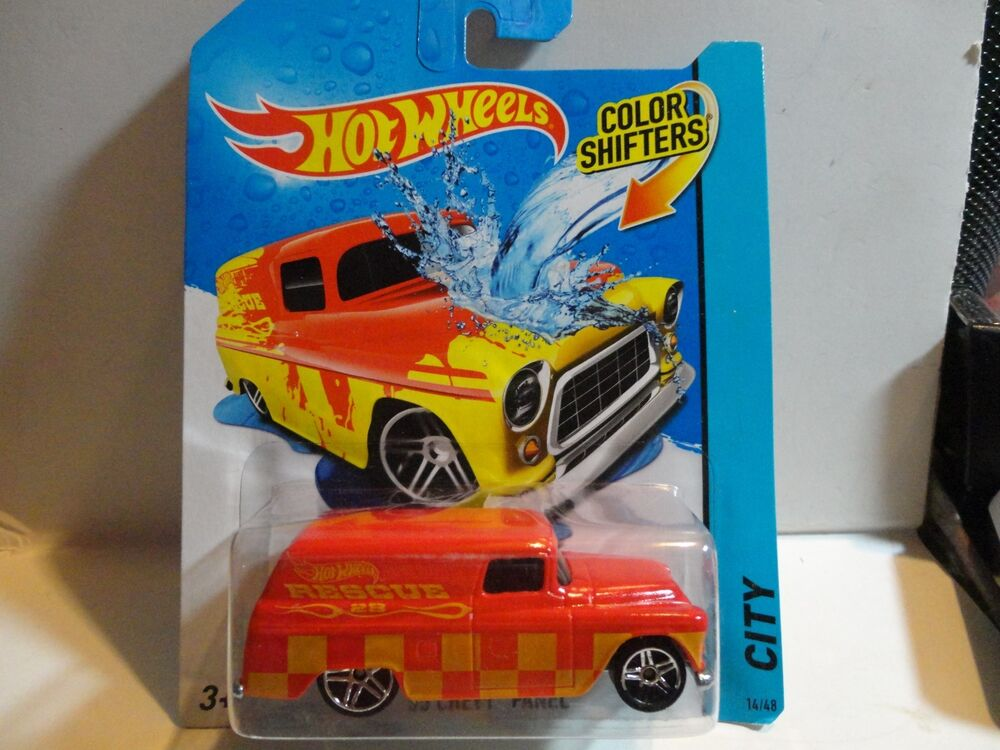hot wheels color shifters red 39 55 chevy panel truck ebay. Black Bedroom Furniture Sets. Home Design Ideas