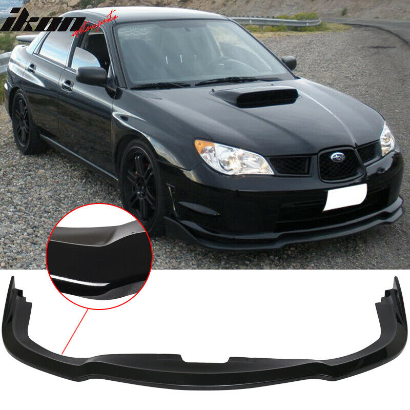 fits 06 07 subaru impreza wrx sti cs2 pp front bumper lip. Black Bedroom Furniture Sets. Home Design Ideas