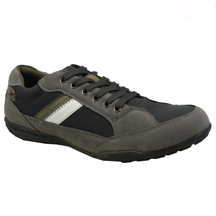 new mens lace up casual walking hiking running driving