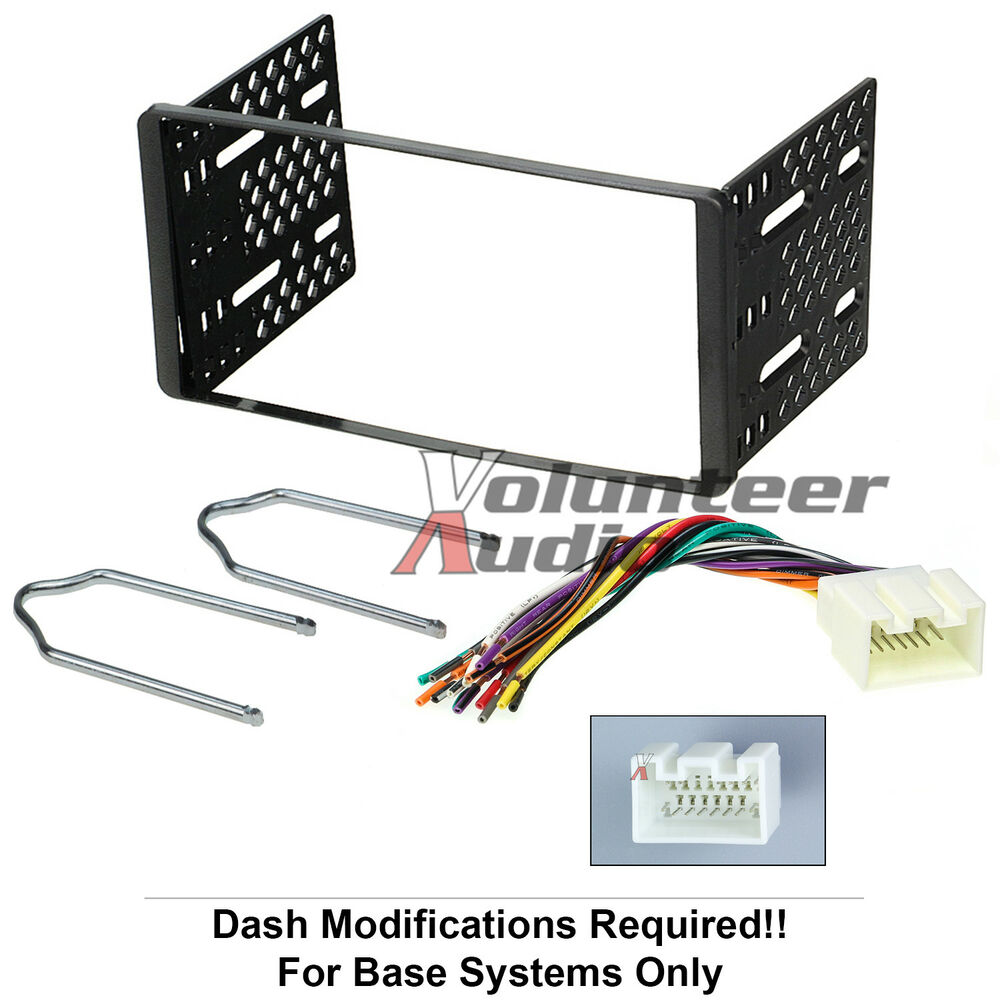 1998 2011 double din radio mount kit for stereo cd player install w wire harness ebay. Black Bedroom Furniture Sets. Home Design Ideas