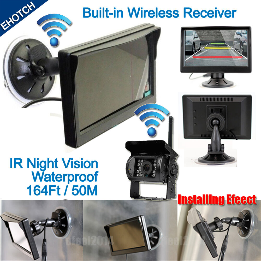 wireless ir night vision rear view back up camera system 5 monitor for rv truck 711274147925 ebay. Black Bedroom Furniture Sets. Home Design Ideas