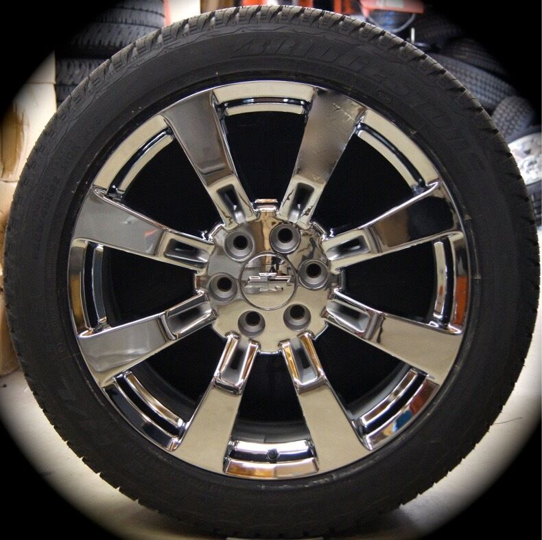 new chevy silverado tahoe suburban avalanche chrome 22 wheels rims tires ck375r ebay. Black Bedroom Furniture Sets. Home Design Ideas