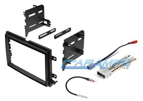 Double 2 Din Car Stereo Radio Dash Kit Trim W Wiring Harness  U0026 Antenna Adapter