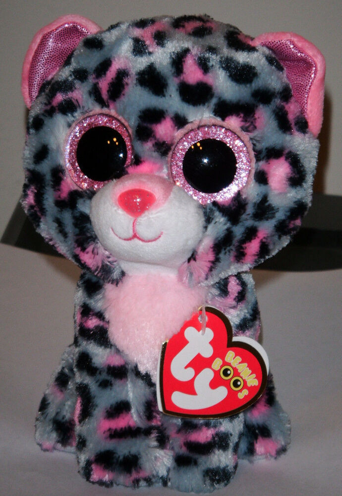Ty Beanie Boos Boo S Tasha The 6 Quot Pink Grey Leopard
