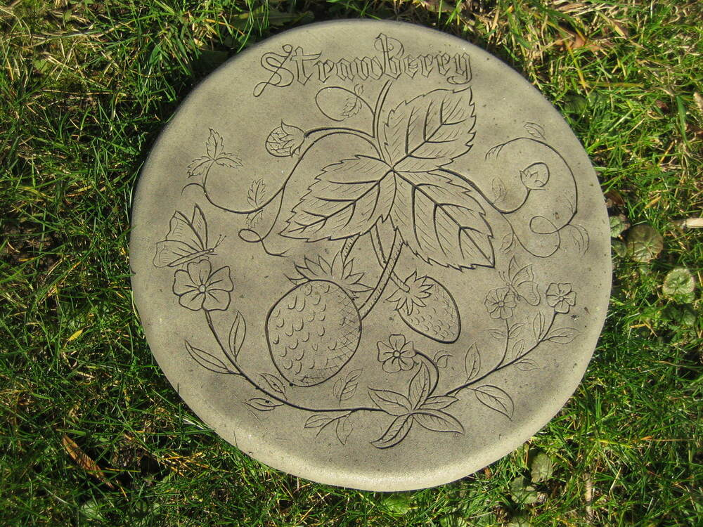 Stepping stone strawberry garden ornament 57 other for Garden stepping stone designs