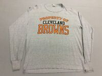 VINTAGE 80'S CLEVELAND BROWNS PROPERTY OF T-SHIRT, YOUTH LARGE