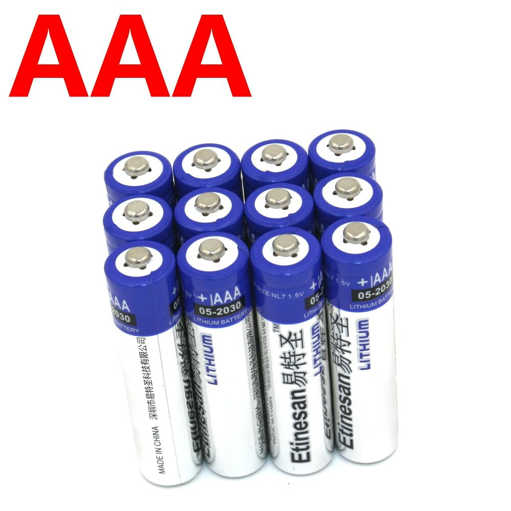 12pcs etinesan lithium aaa lithium battery free ship via singapore post ebay. Black Bedroom Furniture Sets. Home Design Ideas