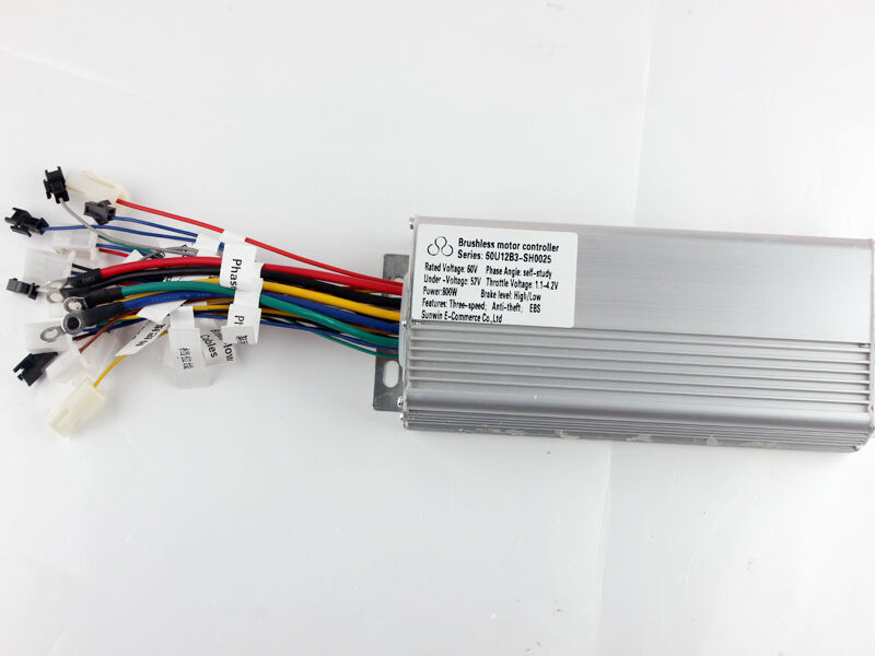 Electric bicycle 60v 800w brushless speed motor controller for Electric bike motor controller