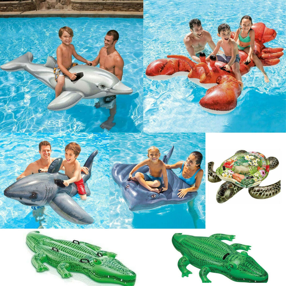 Inflatable ride on swimming pool beach toy float rider Blow up alligator for swimming pool