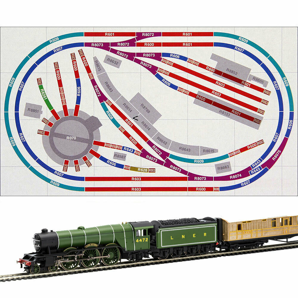 Hornby Digital Train Set Hl6 Compact Oval Layout With One