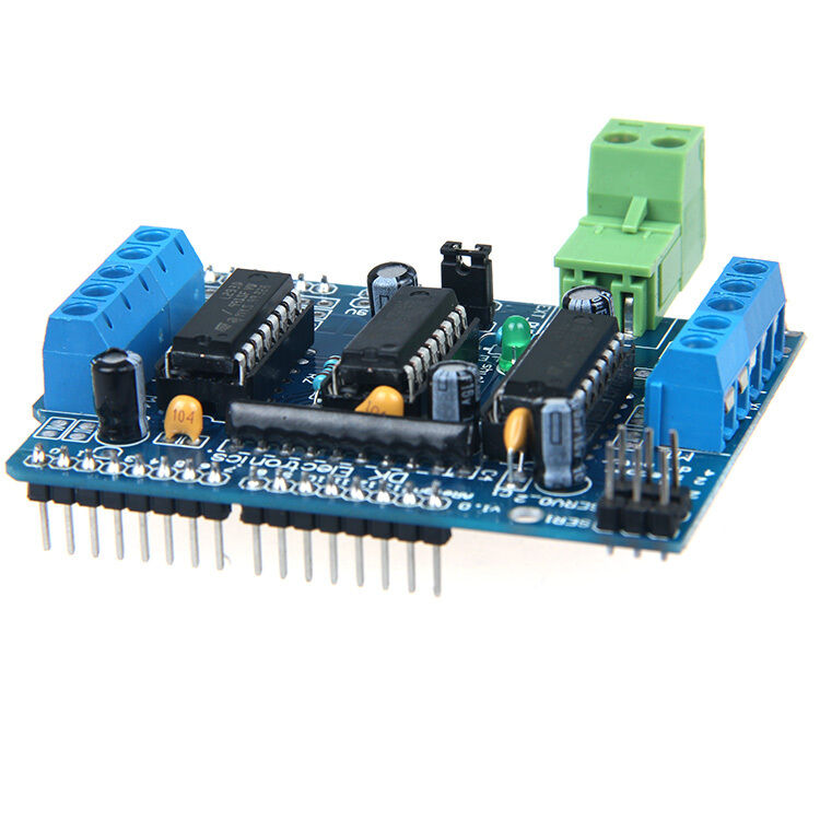 New l293d motor drive expansion board motor control shield for arduino mega uno ebay Arduino mega 2560 motor shield