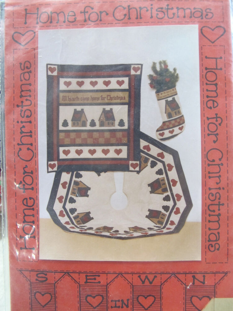Primitive Folk Art Sew Pattern Christmas Quilt Wallhanging