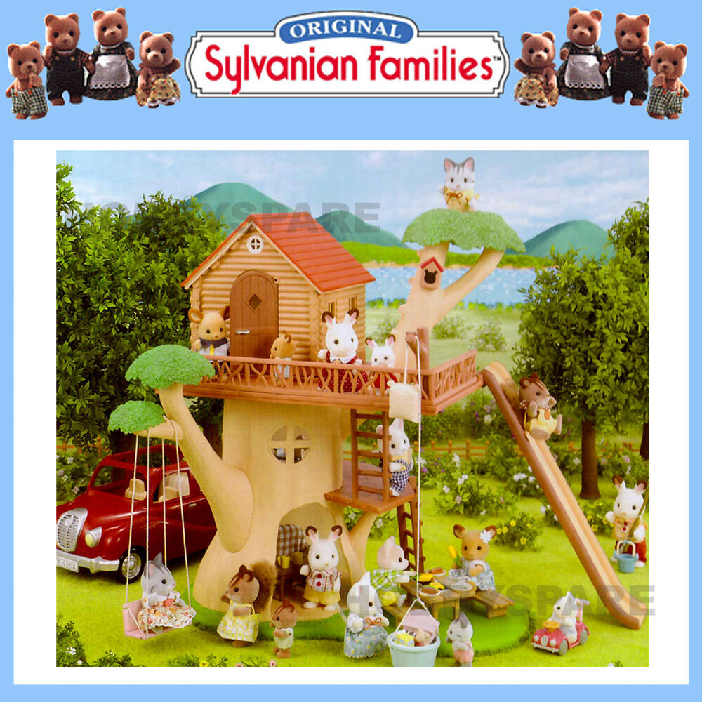 New Sylvanian Families Tree House 4618 Tree Swing Slide