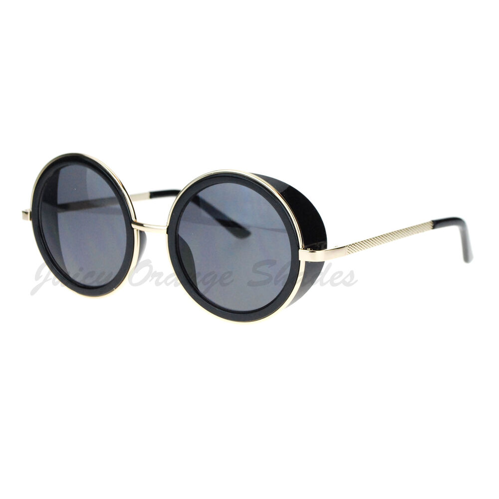 Studio cover side shield sunglasses round circle frame ebay