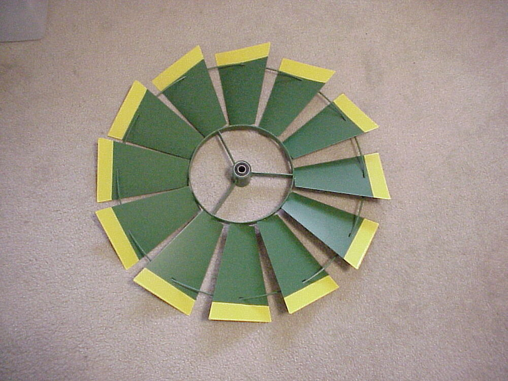 John Deere Windmill Replacement Parts : Replacement quot fan only green with yellow tips ft