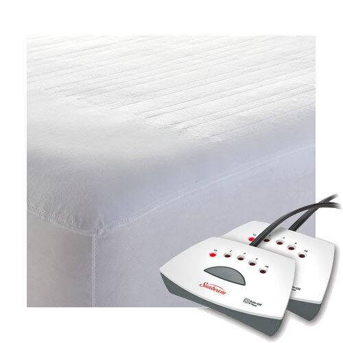 Sunbeam Non-Woven Thermofine Heated Electric Mattress Pad ...