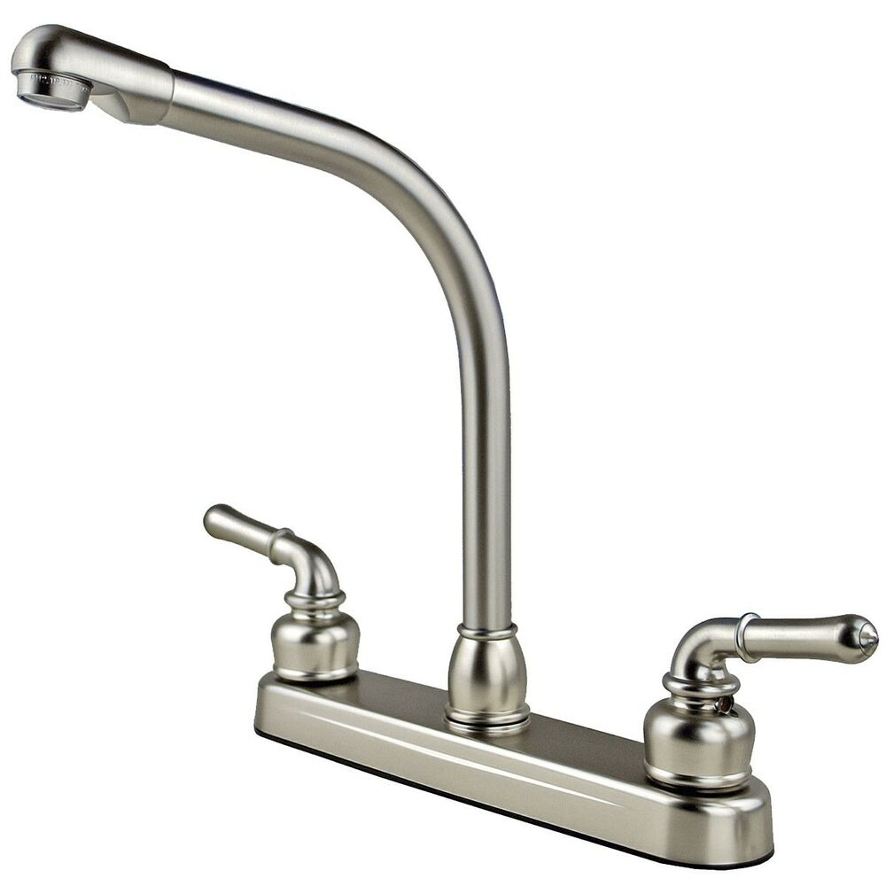 rv mobile home high rise kitchen sink faucet travel