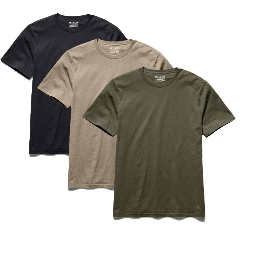 Under armour men 39 s tactical charged cotton t shirt ebay for Under armor tactical t shirt