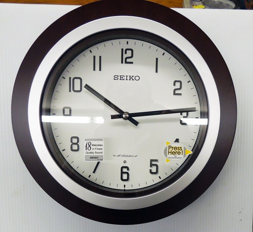 Seiko Quot Easton Quot Musical Wall Clock With 18 Different Hi Fi