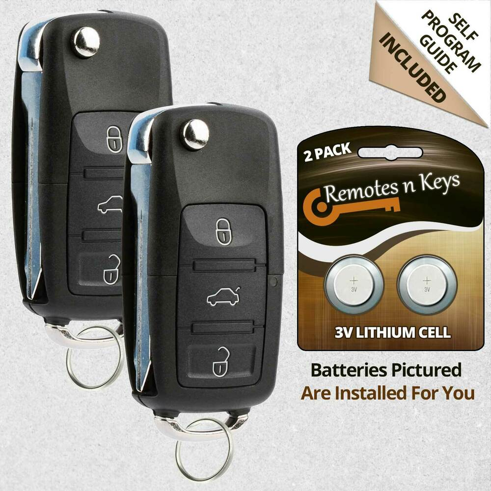 2 New Replacement Keyless Entry Remote Car Flip Key Fob