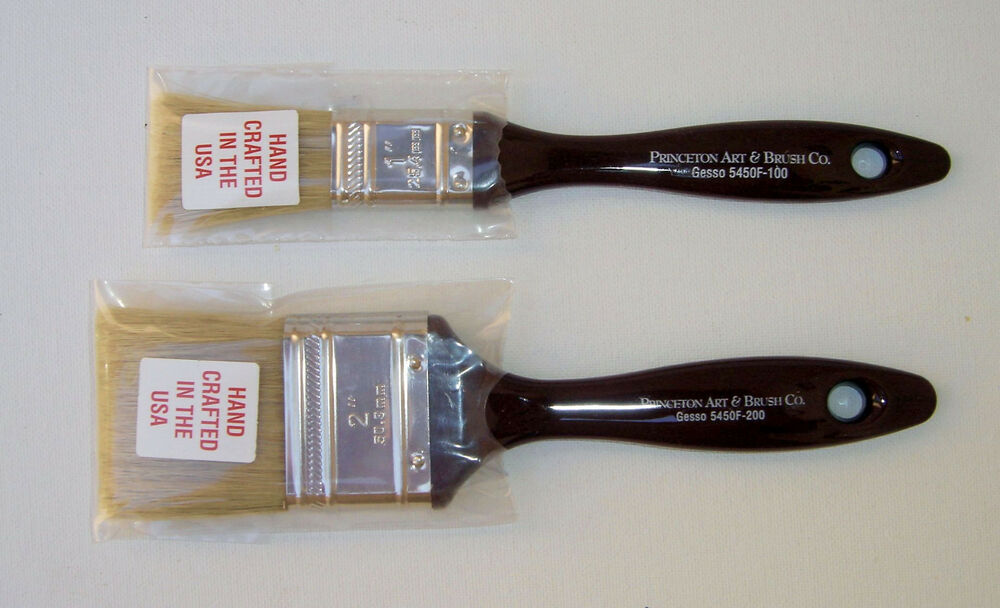 Princeton Art Amp Brush Co Gesso Bristle Paint Brushes Lot
