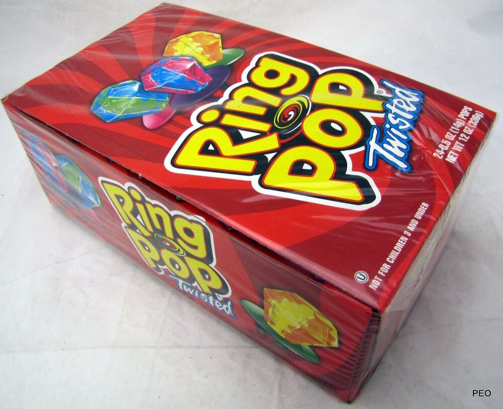 ring pops twisted 24 count candies bulk lollipop lollipops