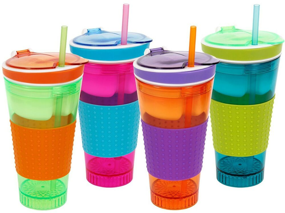 2in1 trink becher snack cup becher m silikon coffee to go. Black Bedroom Furniture Sets. Home Design Ideas