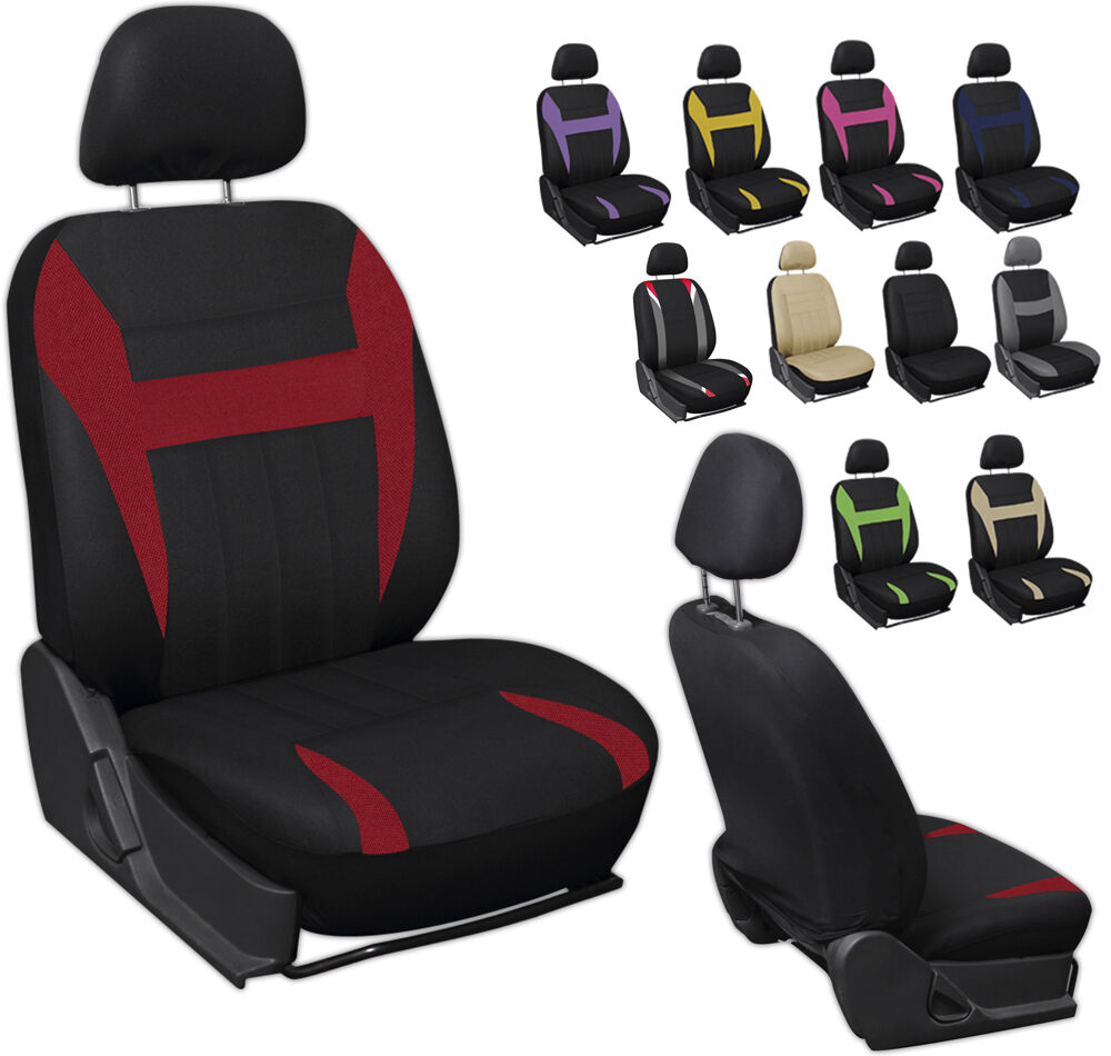 6pc mesh front car seat headrest cover set bucket chair 11 styles colors ebay. Black Bedroom Furniture Sets. Home Design Ideas