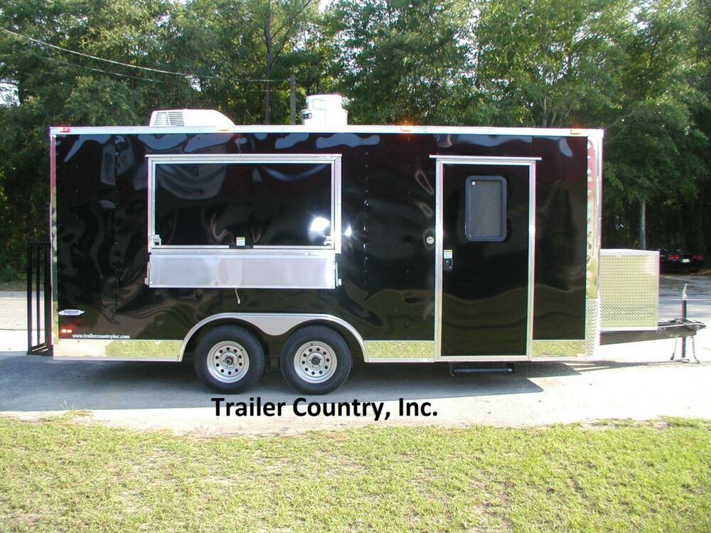 New 8 5x18 8 5 X 18 Enclosed Concession Food Vending Bbq