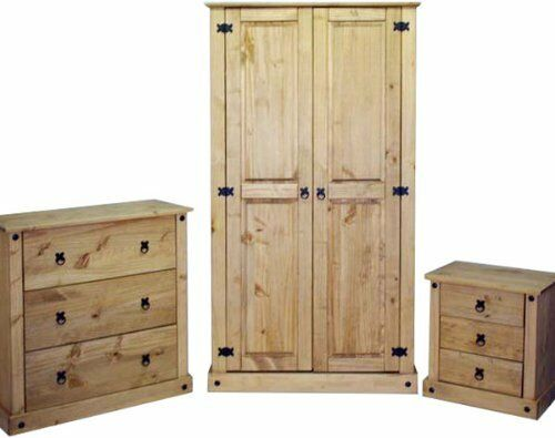 Mercers Furniture Corona Mexican Solid Pine 3 Piece Bedroom Furniture Package Ebay