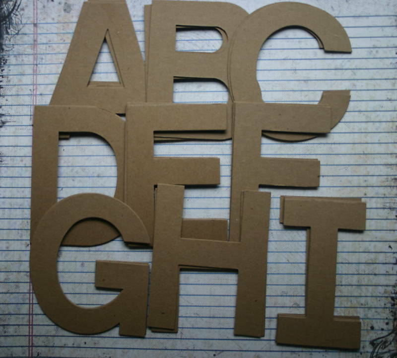 4quot chipboard block uppercase unfinished raw alphabet 26 for Where to buy chipboard letters