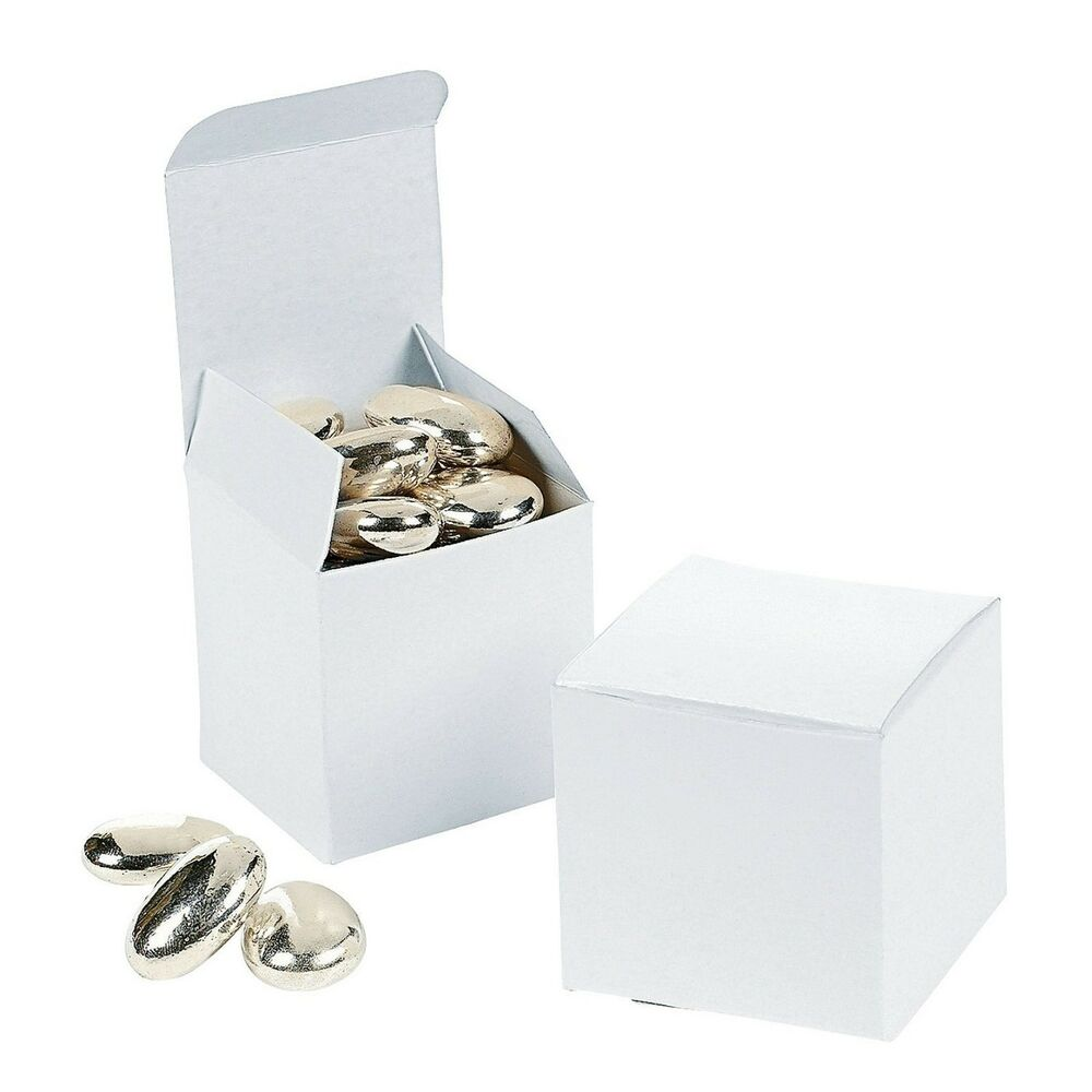 Wedding Gift Box Ebay : 48 White Square 2x2x2 Gift Boxes Wedding Party Favors eBay