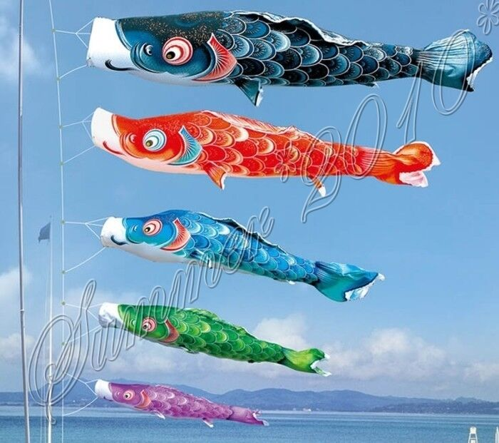 colorful large koinobori japanese carp wind sock koi