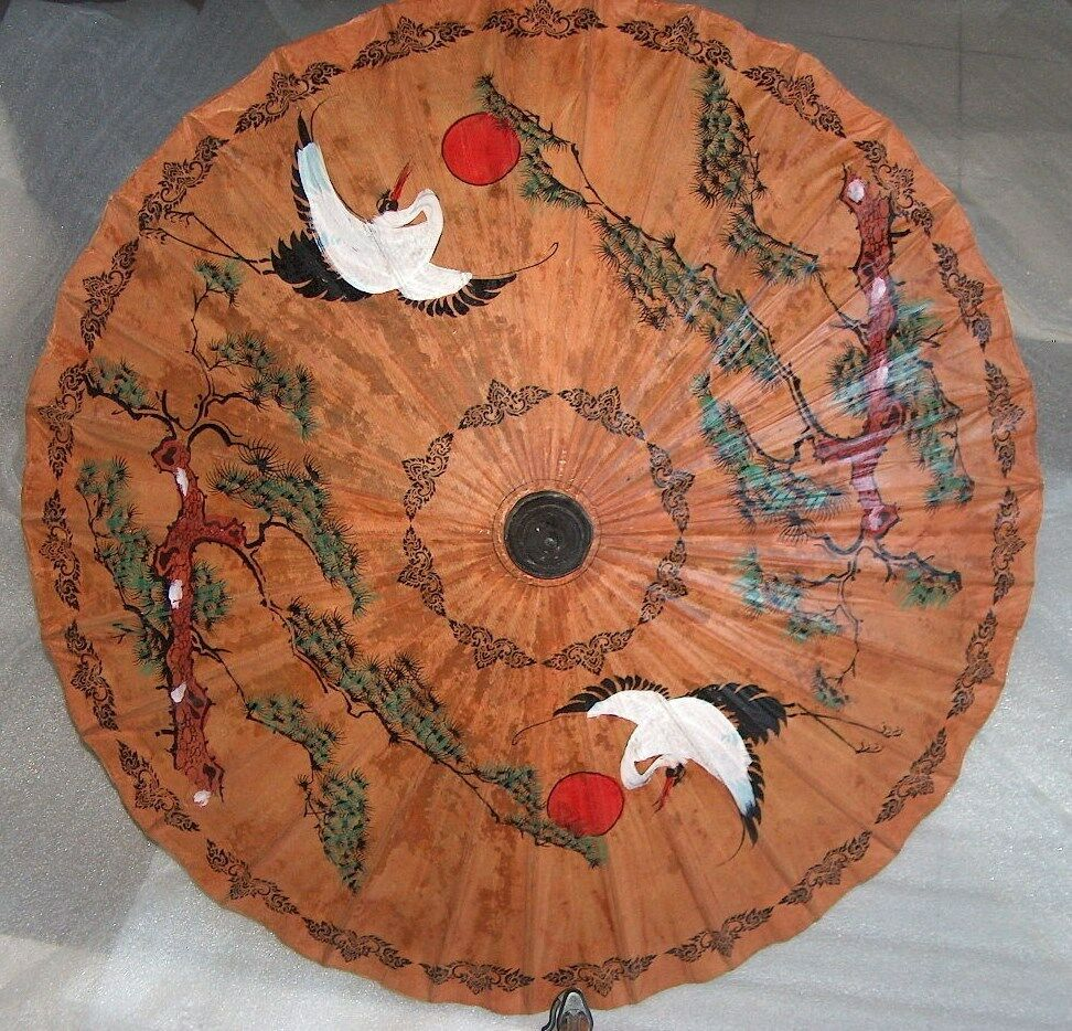 vintage hand painted parasol