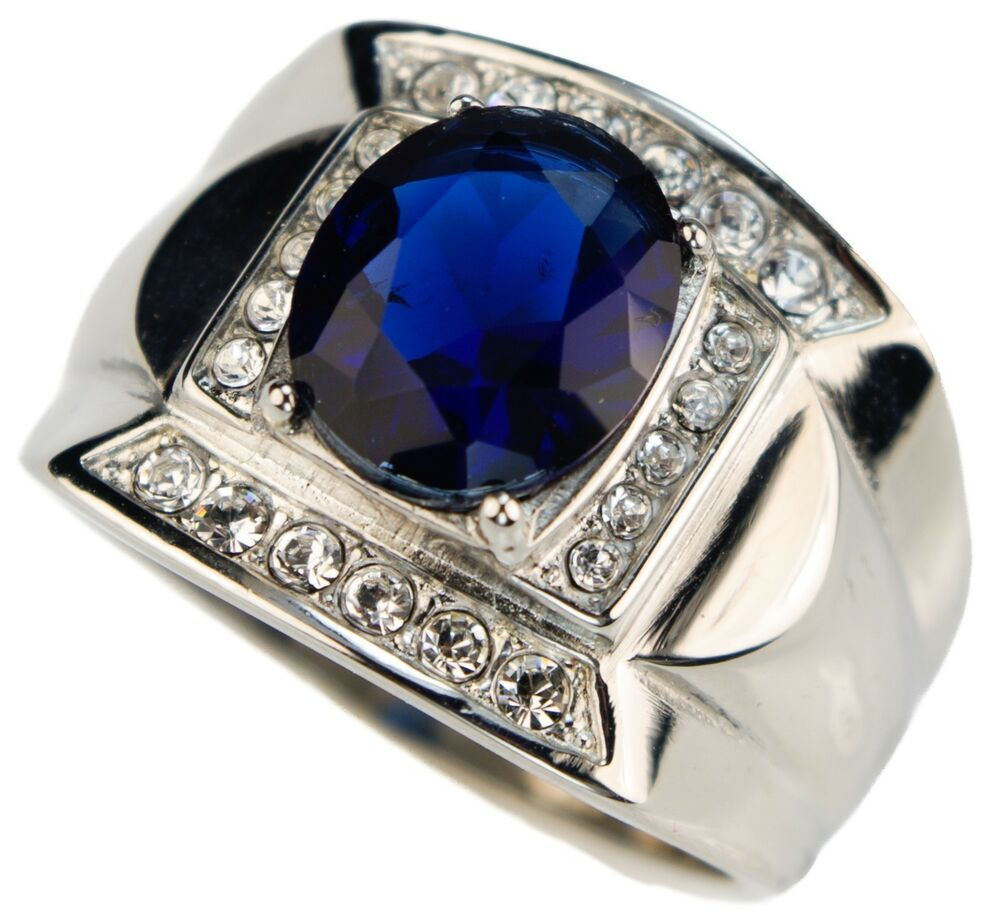 montana blue sapphire simulated 6 carat mens ring 316. Black Bedroom Furniture Sets. Home Design Ideas