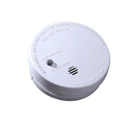 kidde i9040e fire sentry battery operated smoke alarm white 4 ebay. Black Bedroom Furniture Sets. Home Design Ideas