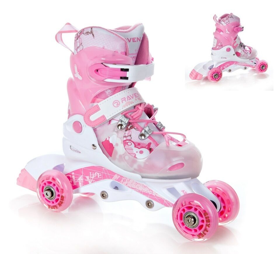 2in1 kinder inlineskates triskates rollschuhe raven. Black Bedroom Furniture Sets. Home Design Ideas