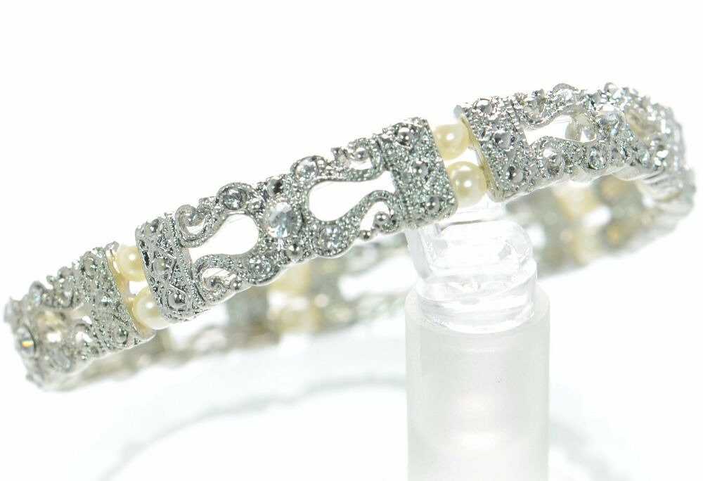premier designs stretch crystal bracelet 39 ebay