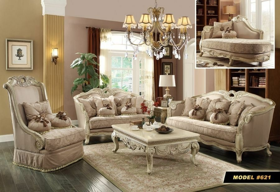 ebay living room sets meridian 621 6 pc antique white provincial living 15907