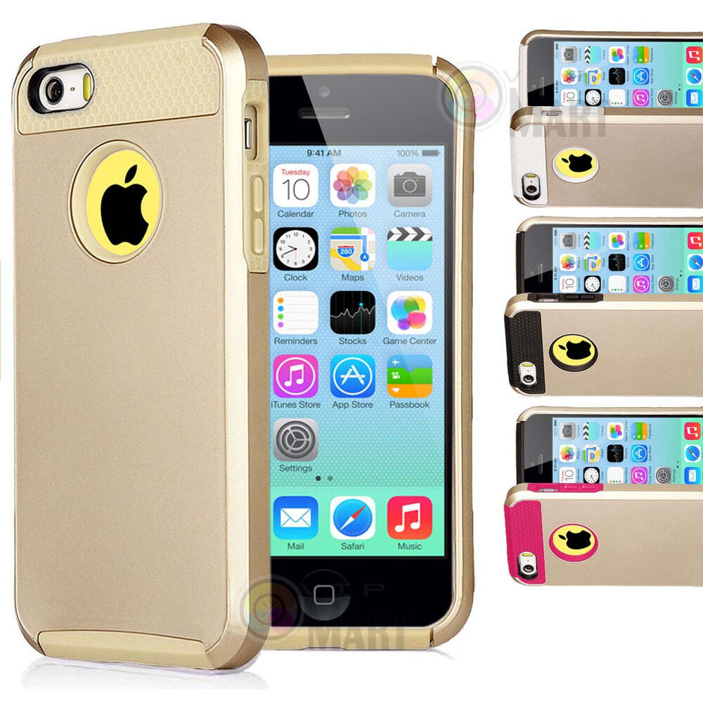 iphone 5c cover for apple iphone 5c c gold hybrid shockproof rugged 11091