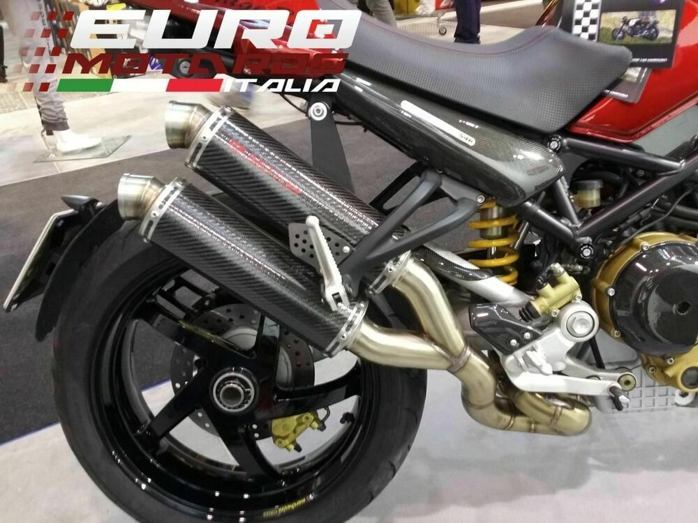 ducati monster s4 s4r silmotor exhaust full system 54mm 2. Black Bedroom Furniture Sets. Home Design Ideas