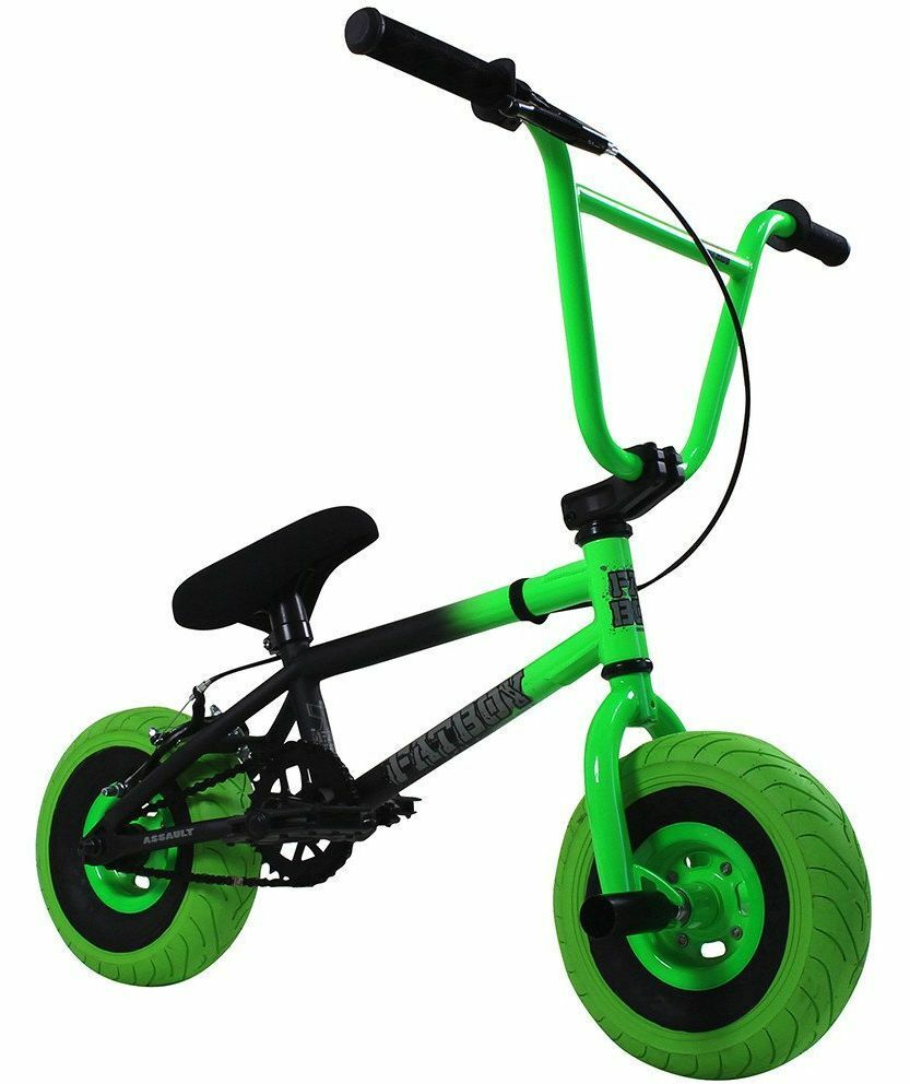 Fatboy Assault 10 Quot Mini Bmx Bicycle Freestyle Bike Neon