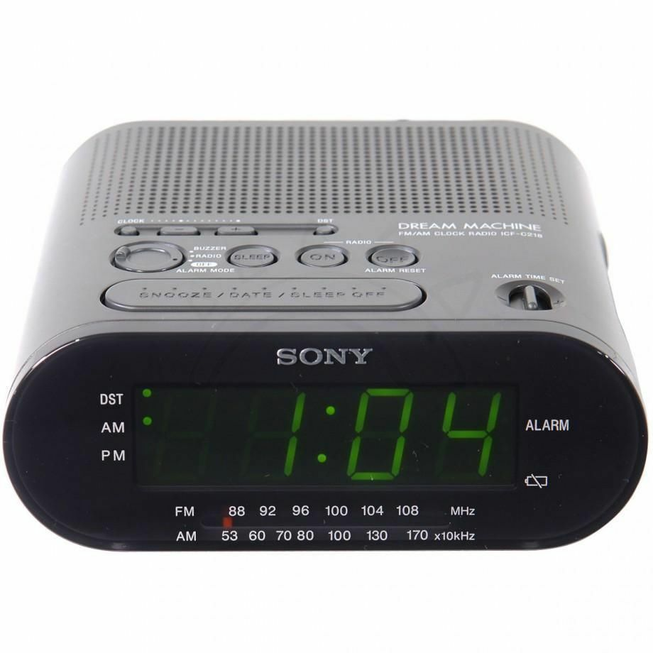 alarm clock model icf c218 sony dream machine music am fm radio tuner receiver 27242704602 ebay. Black Bedroom Furniture Sets. Home Design Ideas