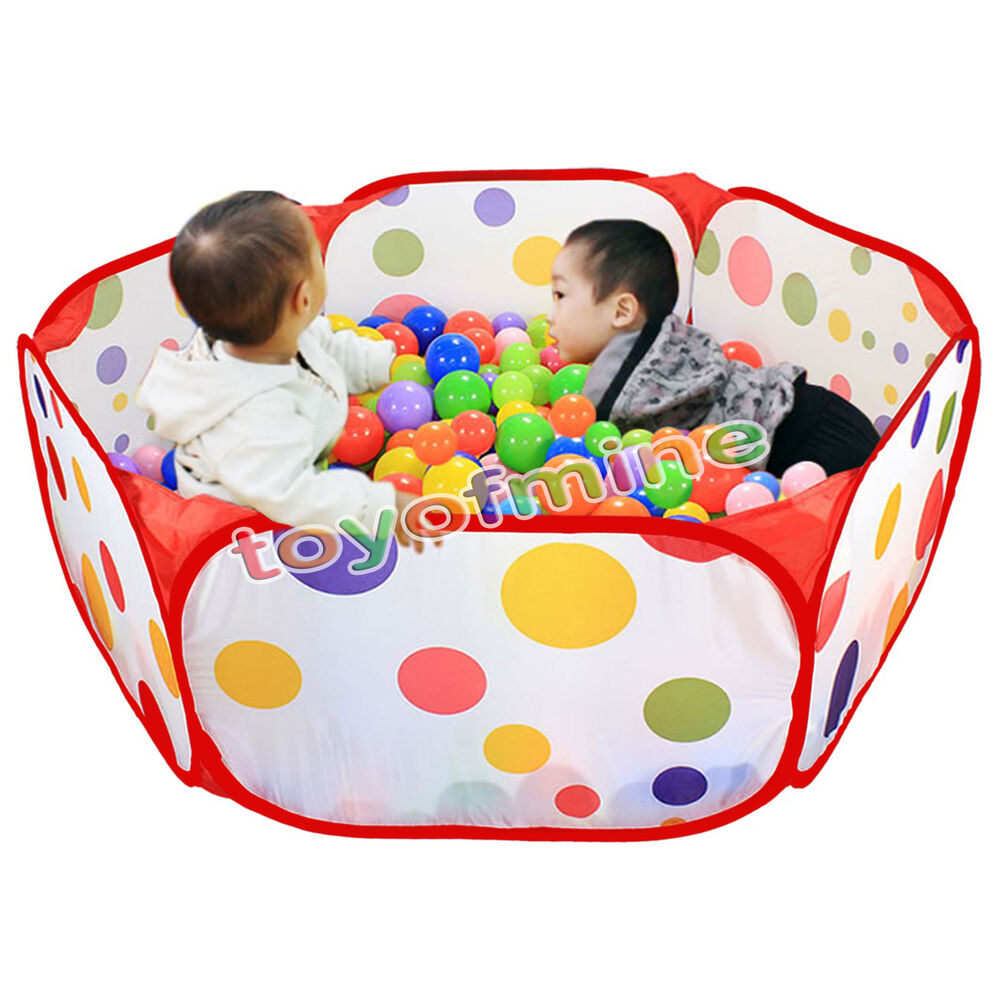 new foldable kids children ocean ball pit pool outdoor indoor game play toy tent ebay. Black Bedroom Furniture Sets. Home Design Ideas
