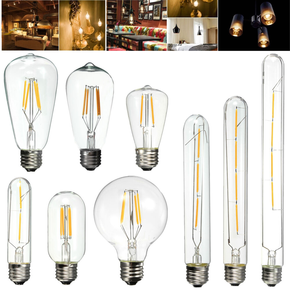 e27 edison vintage cob led lampe licht filament retro. Black Bedroom Furniture Sets. Home Design Ideas